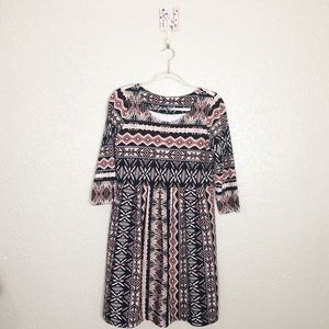 EUC Uncle Frank Aztec textured Babydoll dress